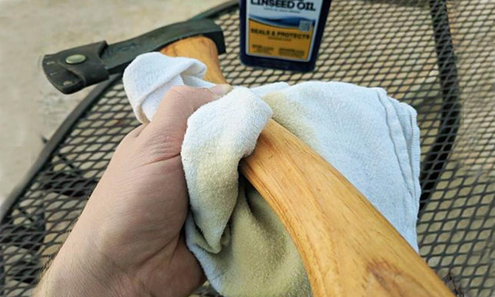 Restoring and cleaning ax handle